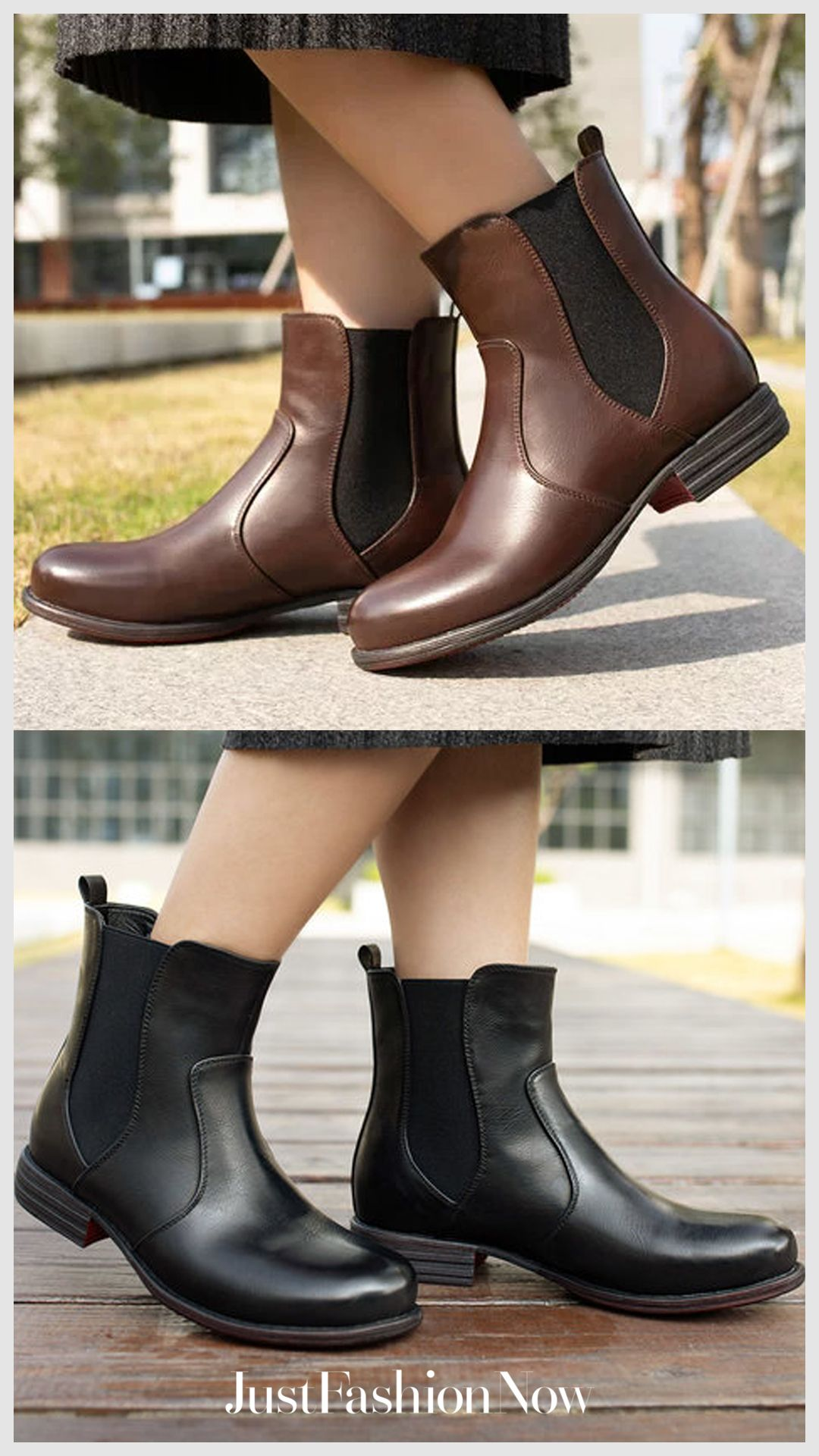 a2d05299346e Women s Vintage Low Heel Plus Size Ankle Booties Slip-on Short Chelsea Boots   women shoes  boots casual shoes  fall fashion   fall back to school shoes  ...