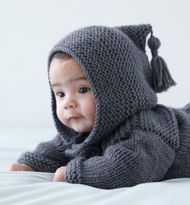 Modèle paletot à capuche Layette   Tricots et layettes pour bébés ... 48f7dfd4174