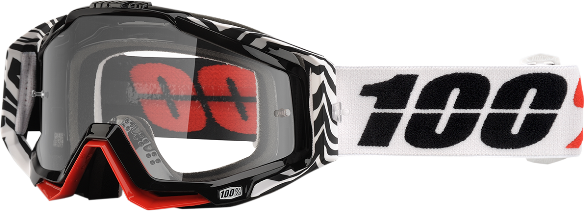 100/% Racecraft Goggles Abyss Black w//Clear Lens