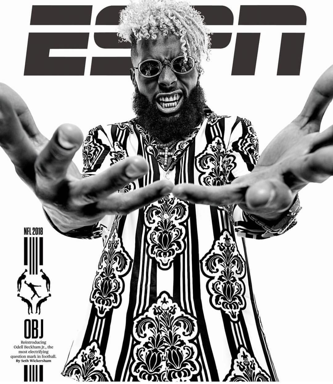 Obj On The Cover Of Espn Thank God He S Got Big Hands So He Can Hold All That Mula Nola Ya Just Made History O Espn Magazine Odell Beckham Jr Beckham