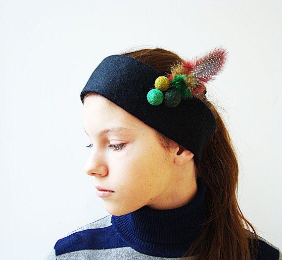 Warm Wool Headband/ Felted Headband /Warm by NataliyaMalik on Etsy, $24.99