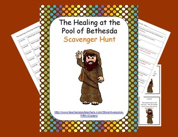 bible story scavenger hunt healing at the pool of bethesda bible story scavenger hunts. Black Bedroom Furniture Sets. Home Design Ideas