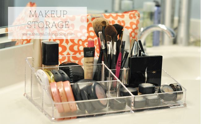 The Small Things Blog : How I Store My Makeup · Makeup Storage  ContainersMakeup ...