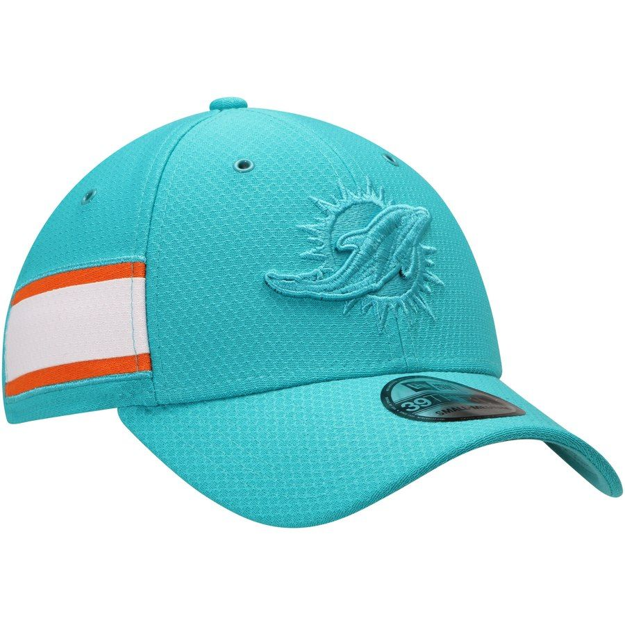 d5897f6faab Men s Miami Dolphins New Era Aqua Kickoff Reverse 39THIRTY Flex Hat ...