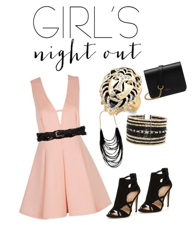 Sexy in Pink by sjenn1987 on Polyvore featuring polyvore, fashion, style, Mulberry, Thalia Sodi, Eloquii, Sparkling Sage, Temperley London, clothing and girlsnightout