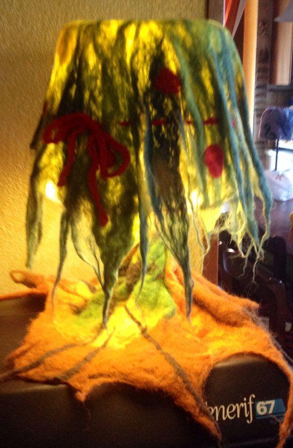 Lampada albero della vita fatato in lana di CreazioniMonica