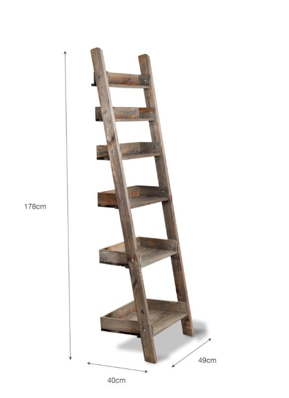 Houten Decoratie Ladder Aldsworth Opbergrekken Hout Ladderplank Opbergrek Hout Meubelprojecten