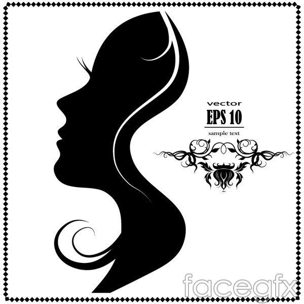 Woman Face Silhouette Vector Woman Face Silhouette Female Face Drawing Silhouette Face