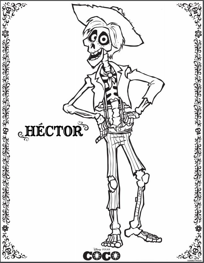 hector coco coloring page