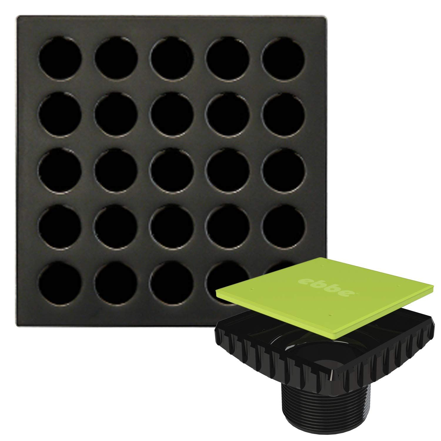 Ebbe E4407 Square Shower Drain Grate Oil Rubbed Bronze Ebbe E4400
