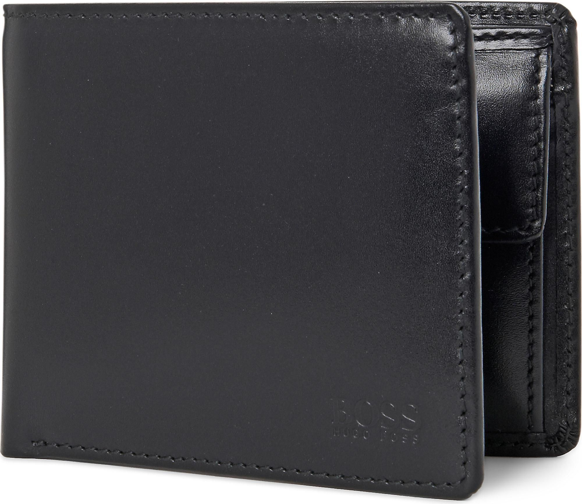 BOSS by Hugo Boss Mens Black Hugo Asolo Leather Wallet for