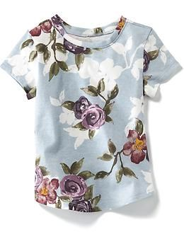 Allover Floral Tee | Old Navy