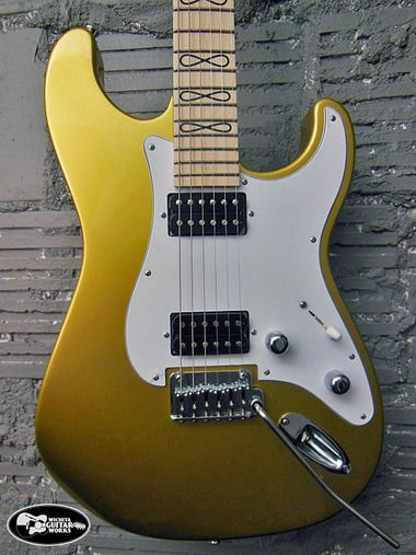 Close Up Of A Limited Edition Gj2 Glendora Infinity In Jon Gold Available At Wichita Guitar Works Guitar Guitar Inlay Electric Guitar