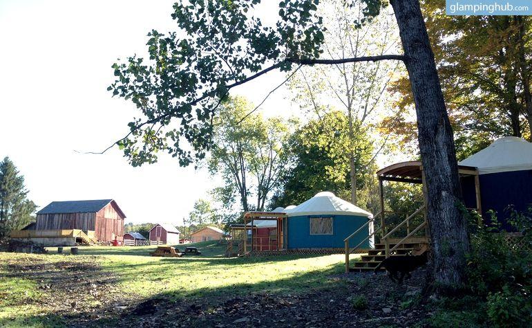 Beautiful Yurt Rentals in Upstate New York   Glamping site ...