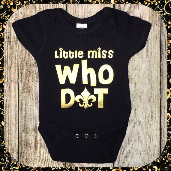 New Orleans Saints Watching With Mommy Baby Short Sleeve Bodysuit