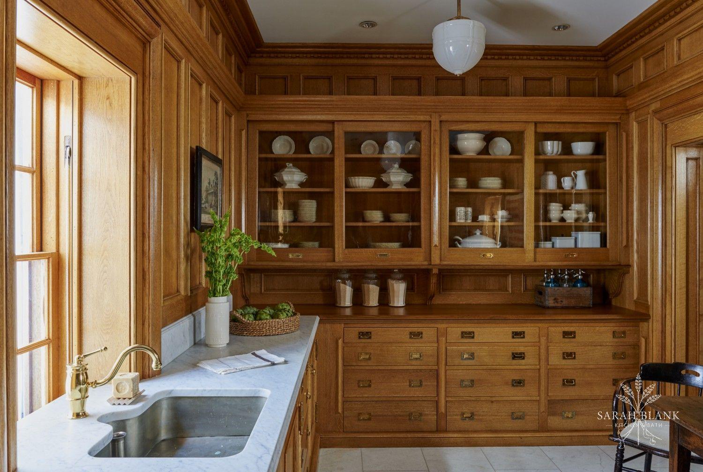 At Home In Darien Sarah Blank Design Kitchen Bath White Oak Kitchen Home Kitchen Styling