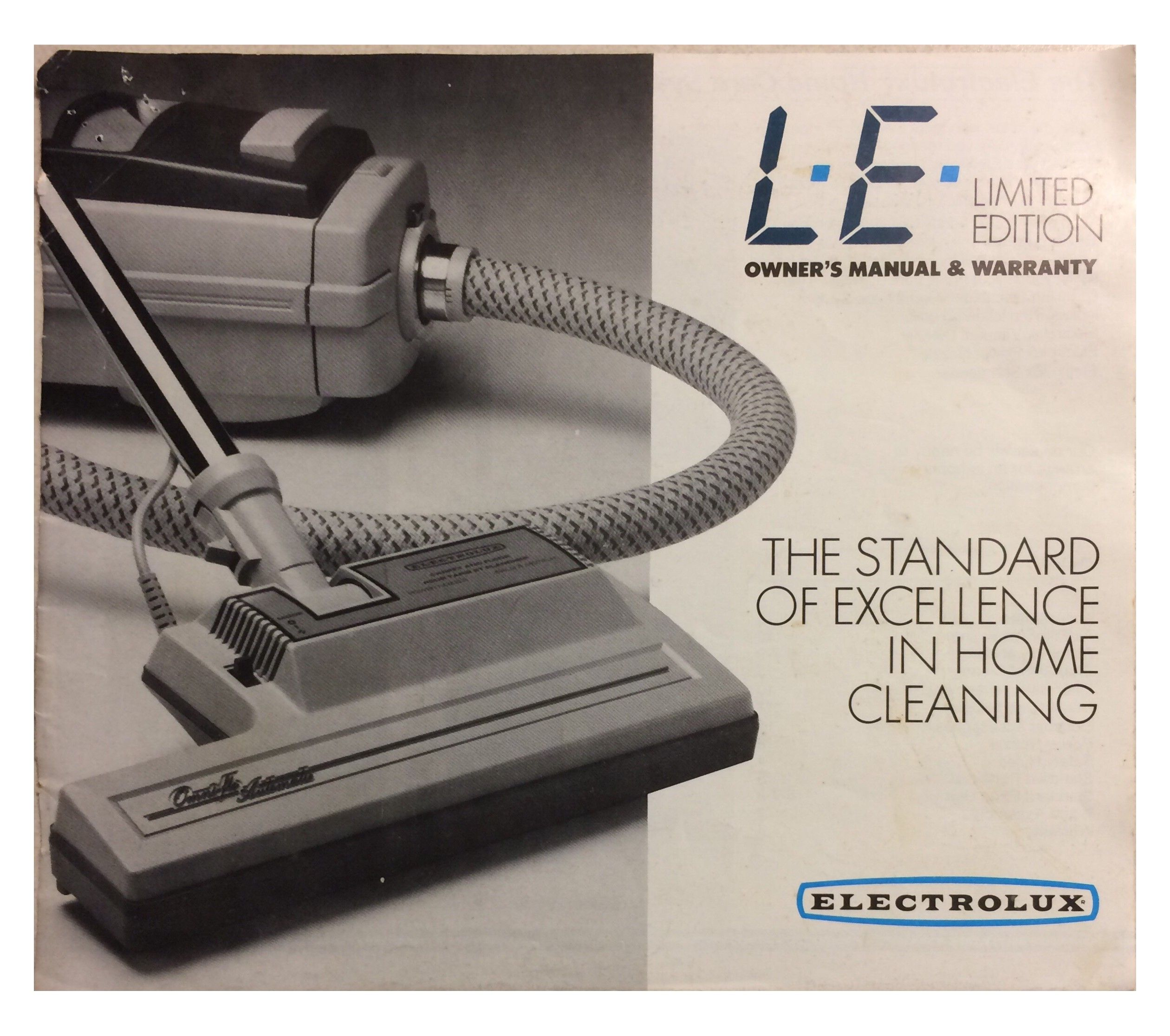 medium resolution of le electrolux limited edition vacuum cleaner manual pg 1