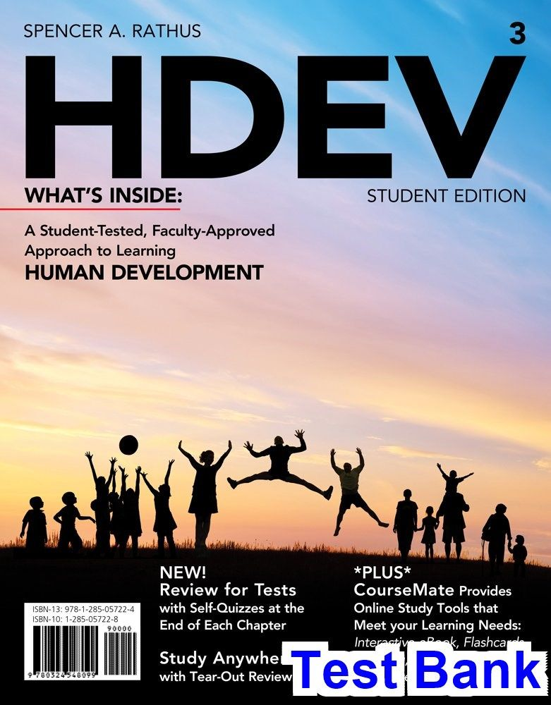 Test Bank For HDEV 3rd Edition By Rathus Test Bank