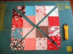 Use up your scraps.....Disappearing 16 Patch Tutorial, several different quilts. I love this! Thanks for sharing.