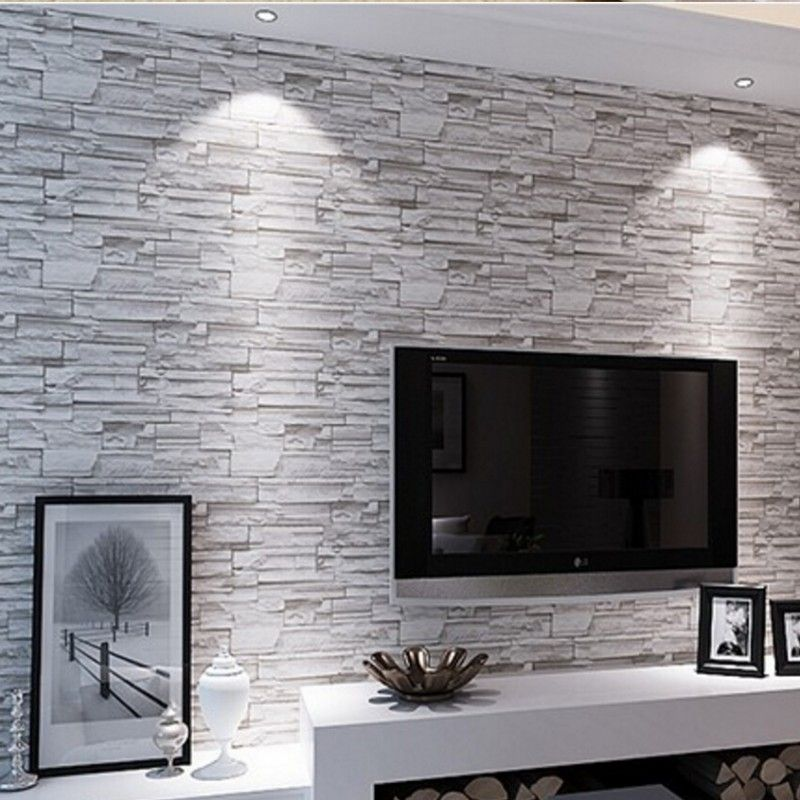Beibehang faux stone brick wall 3d wallpaper roll modern for 3d brick wall covering