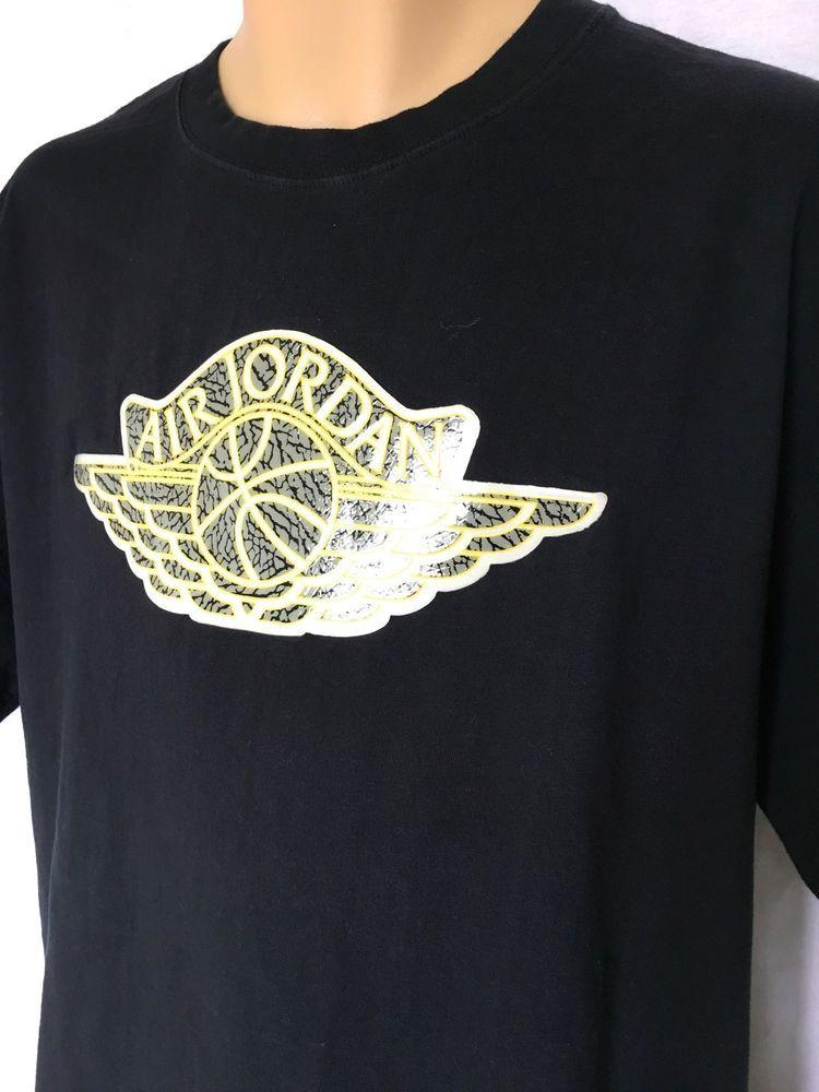 c935f6175d3eff JORDAN Air Jordan Thick Plastic Patch Men s T-Shirt Black XL