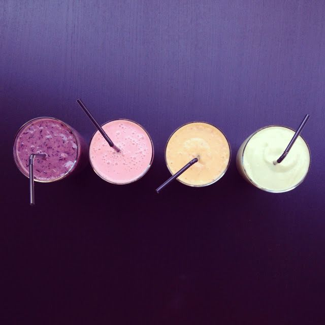 Smoothies Yaourt : 4 versions