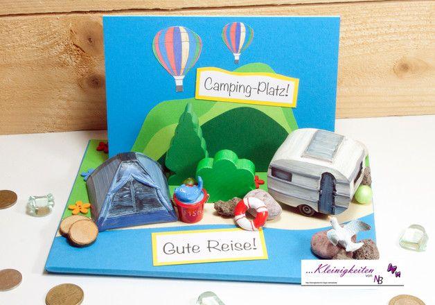 Geldgeschenk Camping Urlaub Zelt Wohnwagen Gutscheine