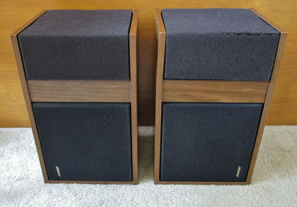 Vintage Bose 301 Bookshelf Direct Reflecting Speakers As Is Read