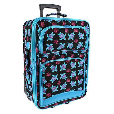 ROLLING LUGGAGE SUITCASE TURTLE REEF BLUE