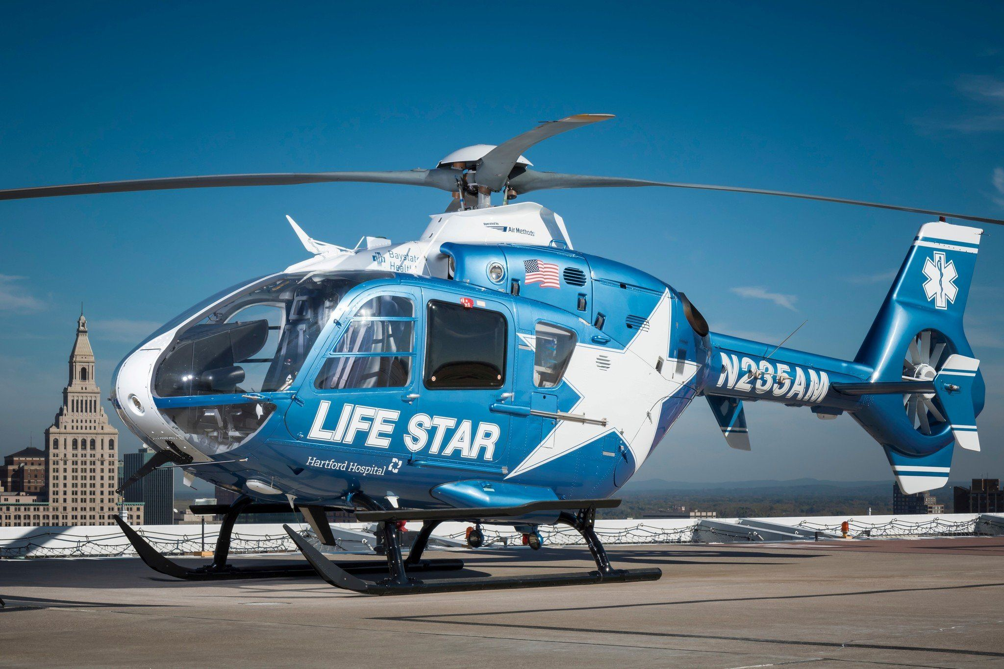Baystate Hartford Healthcare Partner On Helicopter Helicopter