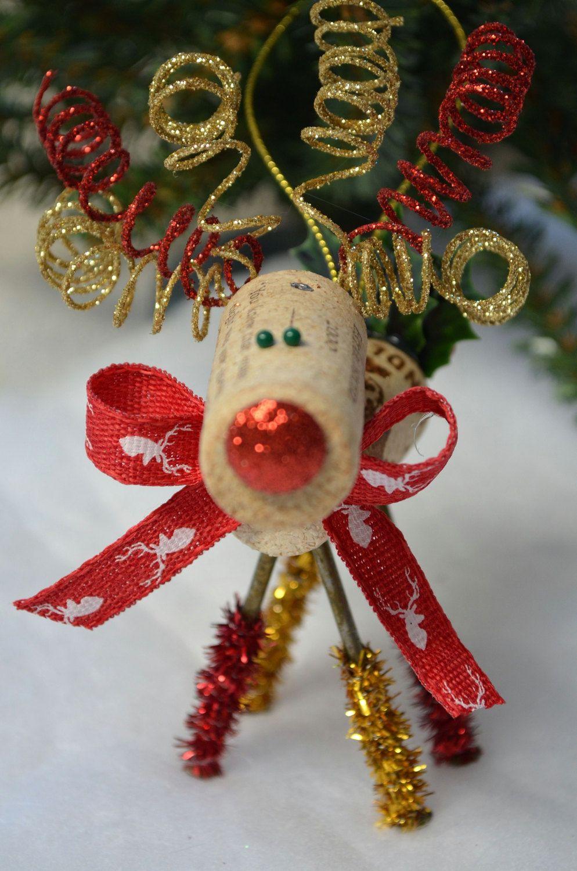 Wine Cork Reindeer Ornament_Ornament Exchange_Miniatures ...