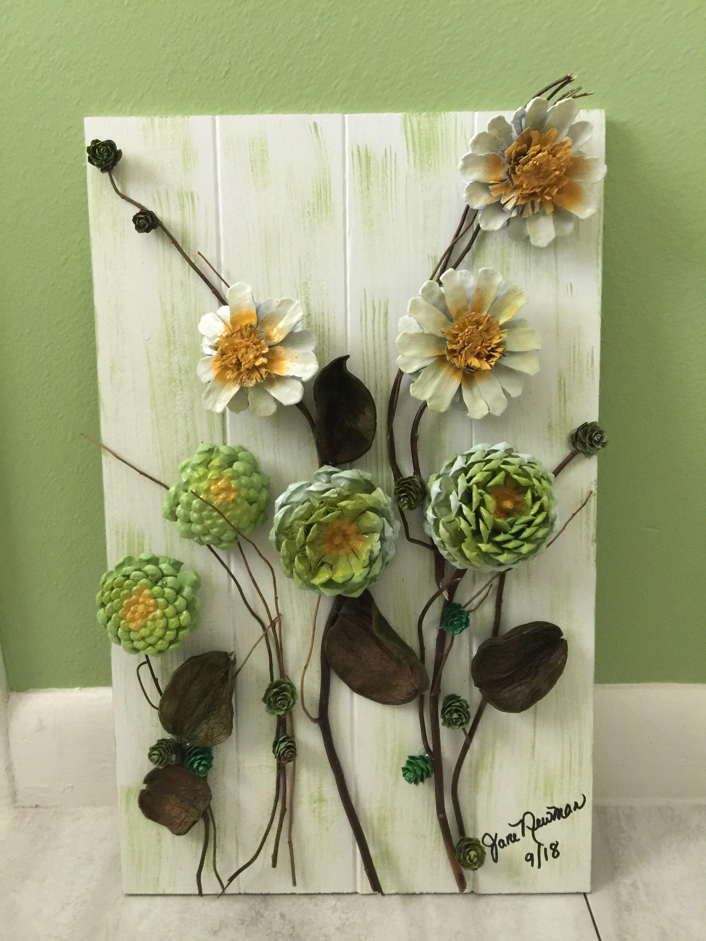 Pinecones Tannenzapfen Dekor Tannenzapfen Kunst Selbstgemachte Wandkunst