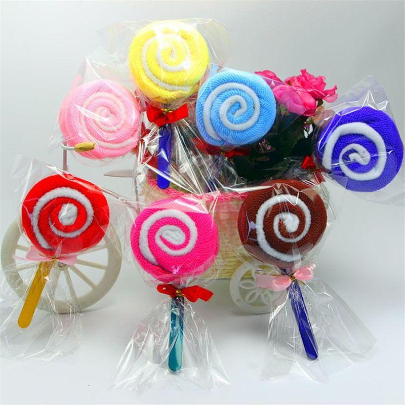 Cute Lollipop Washcloth Bridal Baby Kid Shower Wedding Party Favor ...