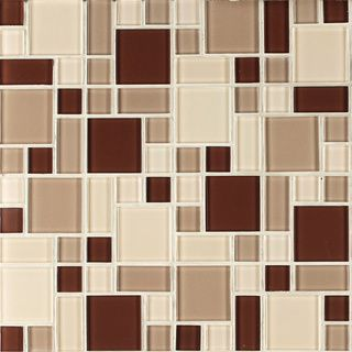 Instant Glass Peel and Stick Mosaic Taupe Tile | Overstock.com Shopping - The Best Deals on Backsplash Tiles