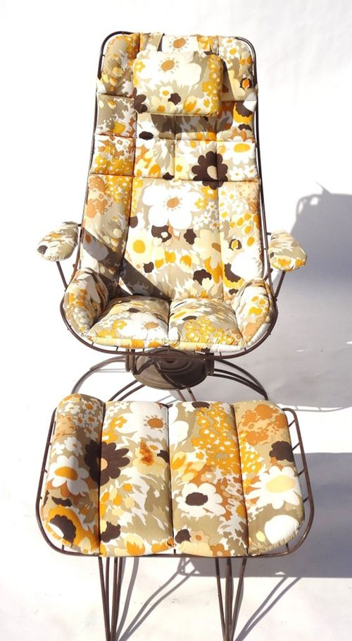 Craigslist L.A. > Mustard floral patio chair (With images ...