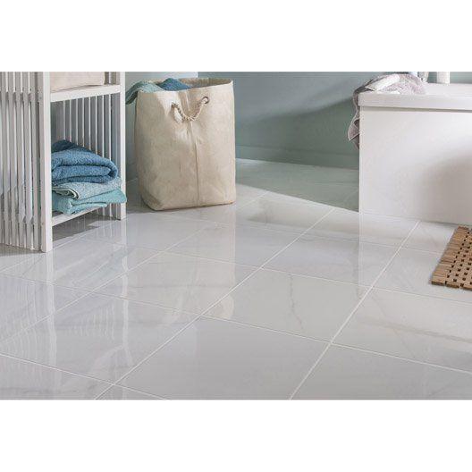 Carrelage Sol Et Mur Medio Effet Marbre Blanc Samos L 33 3 X L 33 3 Cm Carrelage Sol Marbre Blanc Sol Et Mur