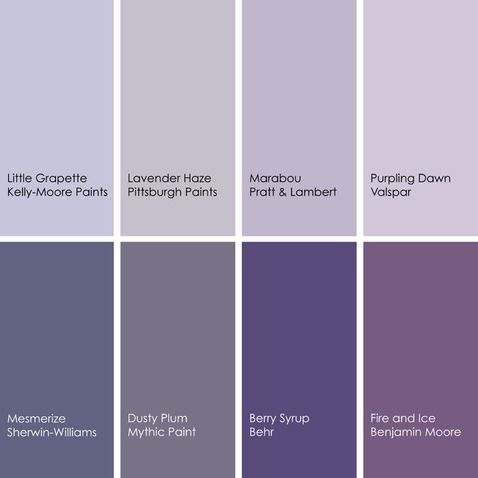 Shades Of Purple Paint Colors Pinterest Purple Room And