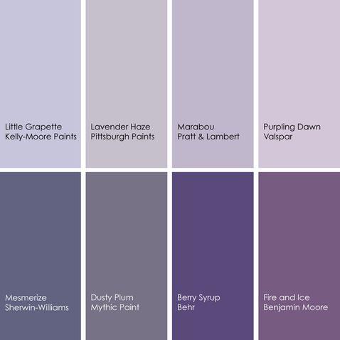 Shades Of Purple Lavender Paint Purple Paint Colors Lavender