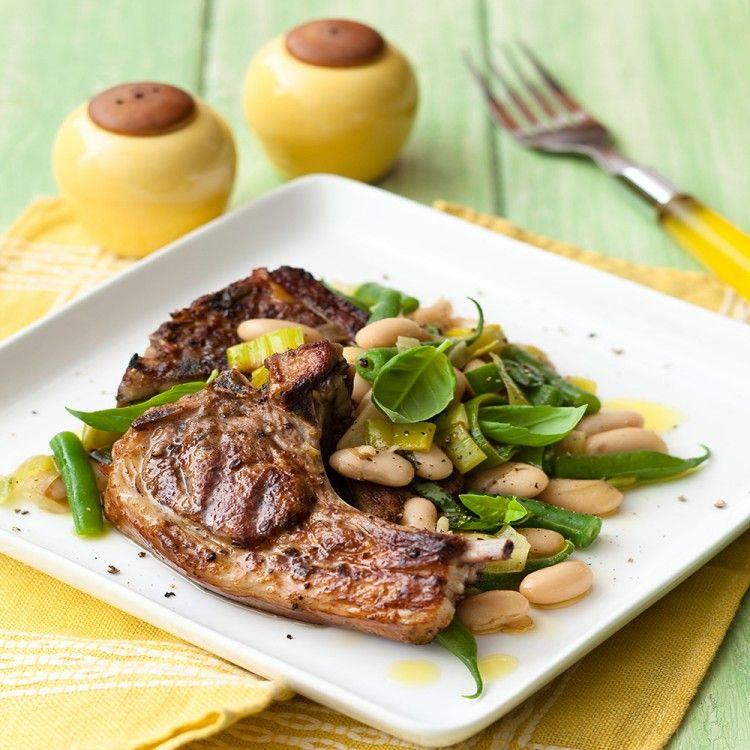 طريقة عمل لحم ريش مع الفاصولياء وصفات طبخ أكلات اللحوم Food Meat Steak