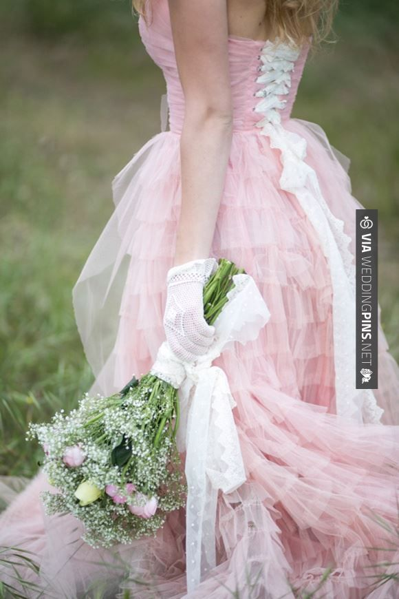 Sweet - Fairytale secret garden wedding with vintage dress in pink layered tulle | CHECK OUT MORE GREAT PINK WEDDING IDEAS AT WEDDINGPINS.NET | #weddings #wedding #pink #pinkwedding #thecolorpink #events #forweddings #ilovepink #purple #fire #bright #hot #love #romance #valentines #pinky