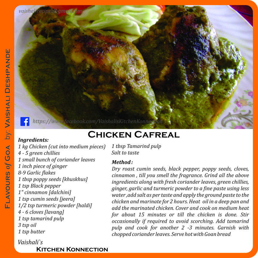 Chicken cafreal goan cuisine pinterest indian chicken kaffee chicken cafreal goan recipesgoan foodindian forumfinder Image collections