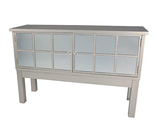 Aparador con espejos en madera de fresno y DM - plateado   muebles ...