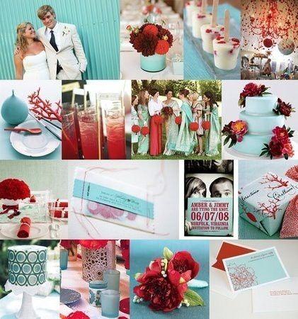Wedding colors: Tiffany Blue and Red wedding-ideas | Laa\'s Wedding ...