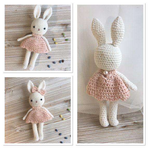 Amigurumis conejito chica conejo de ganchillo ganchillo   Muñecos ...