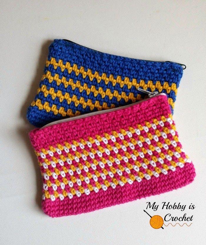 Mi hobby es Crochet: Tejido Stitch bolsa de la cremallera   Modelo ...