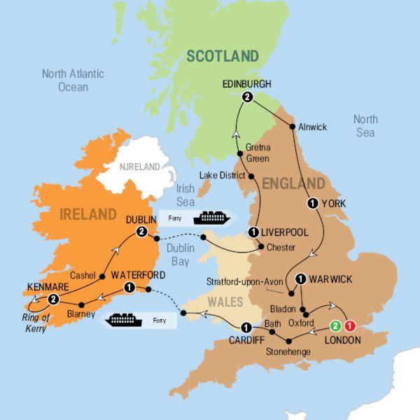 Wonders Of Britain And Ireland 2015 Canada Trafalgar Tours Trafalgar Tours Ireland Itinerary Ireland