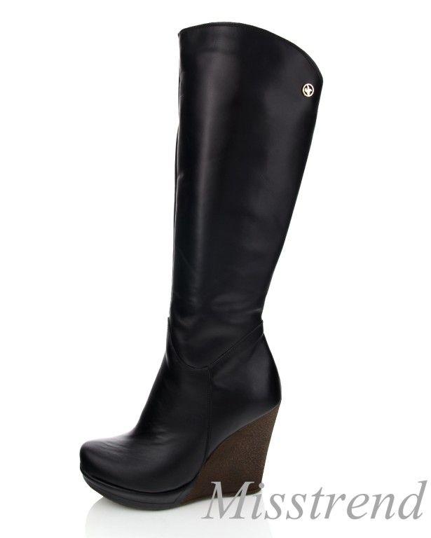 New Kozaki Czarne Koturny Boho Polskie Skora 39 5677612830 Oficjalne Archiwum Allegro Boots Shoes Wedge Boot