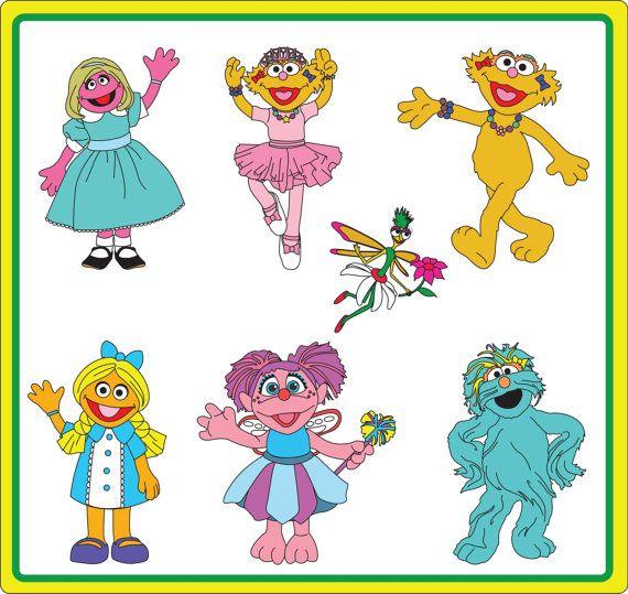 Instant Download Sesame Street Girls Clip Art Abby