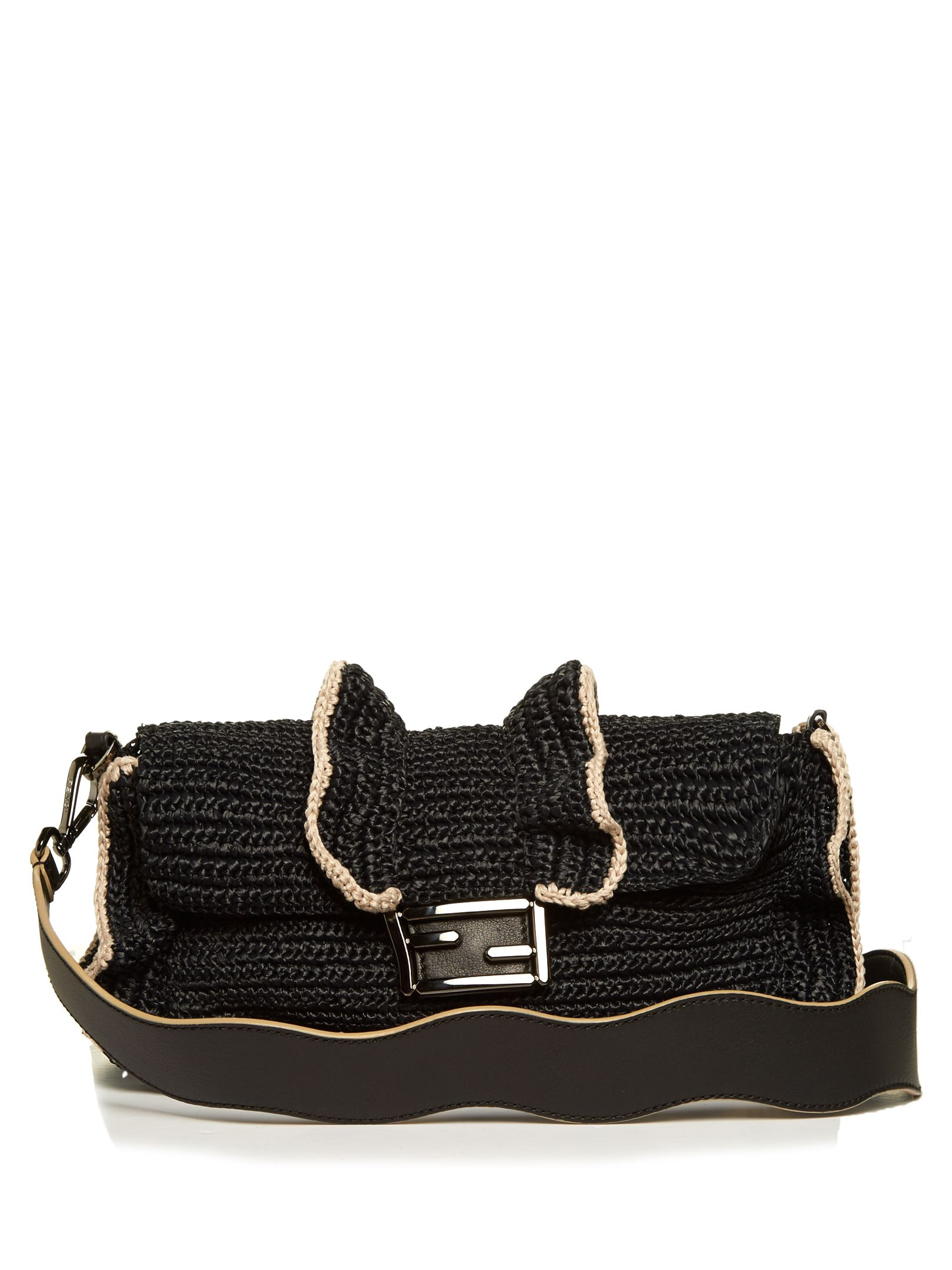df665a7f4264 Click here to buy Fendi Baguette Wave raffia cross-body bag at  MATCHESFASHION.COM
