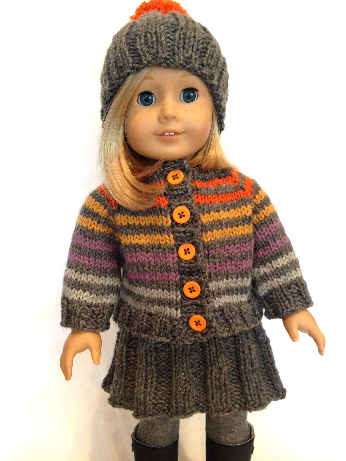 Knitting pattern for doll hat, sweater and skirt!! | Tutorials ...